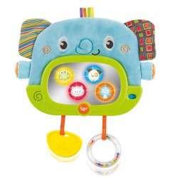 Winfun Elephant Crib Toy Spogulis ar rotaļlietām