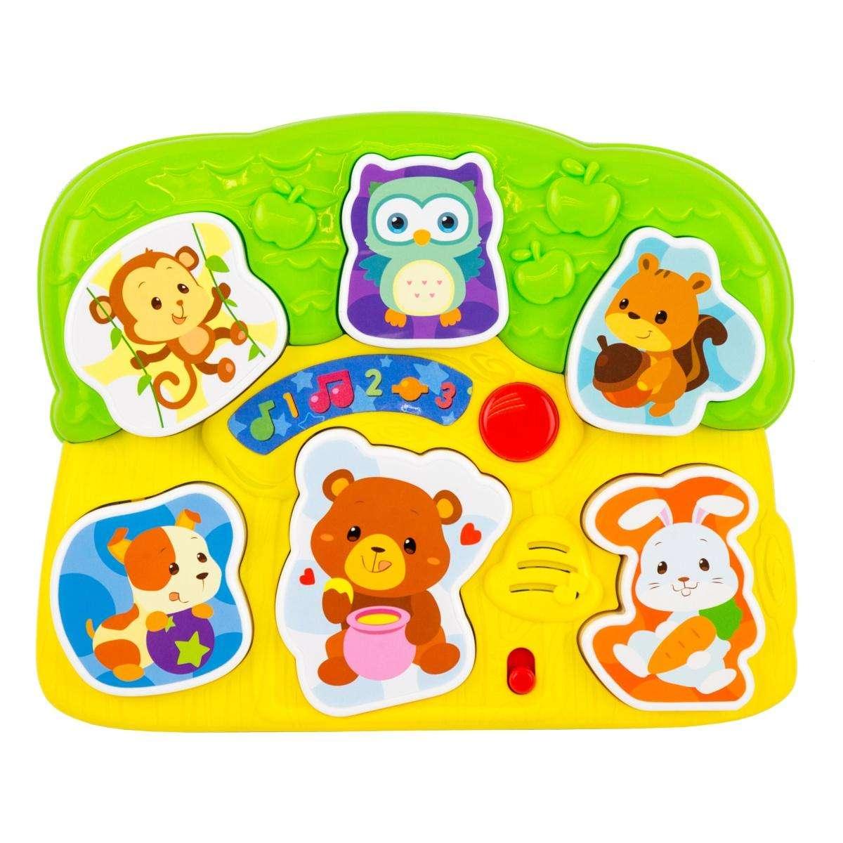 WinFun Light N Sounds Animal Puzzle Attīstoša mūzikāla rotaļlieta - puzle Dzivnieki
