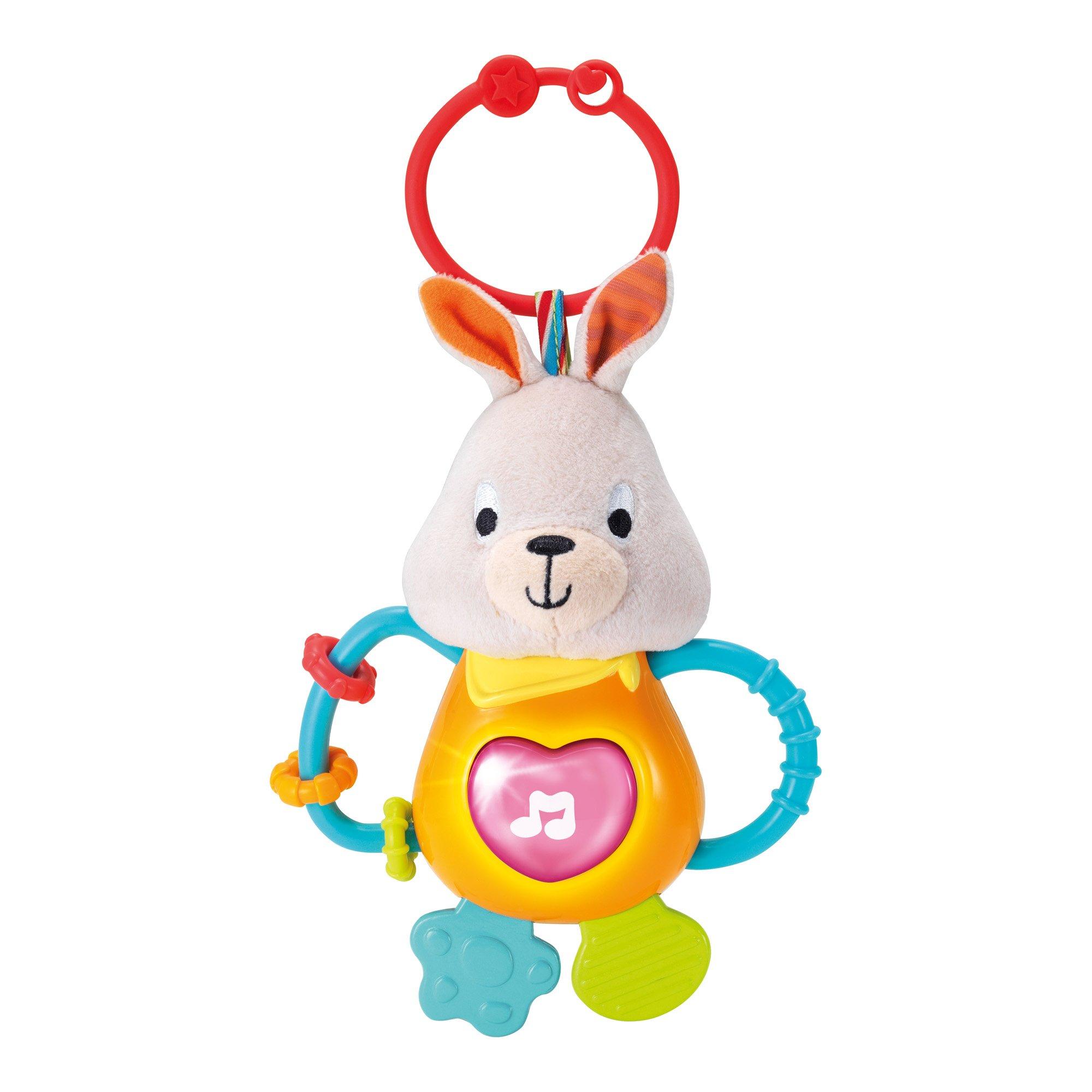 WinFun muzikālā mīkstā rotaļlieta ar zobu riņķi