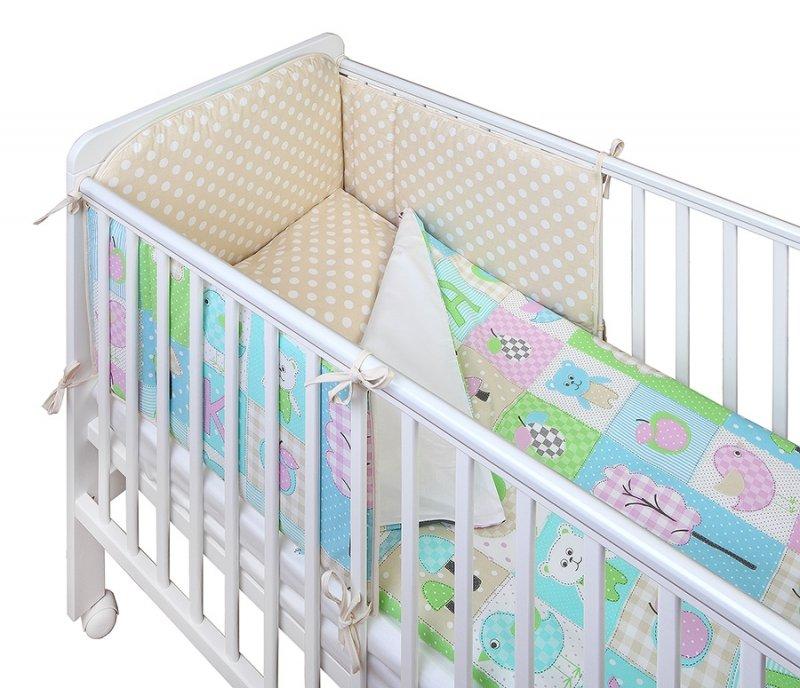 YappyKids PlayYard Kokvilnas apmalīte bērna gultiņai 180 cm