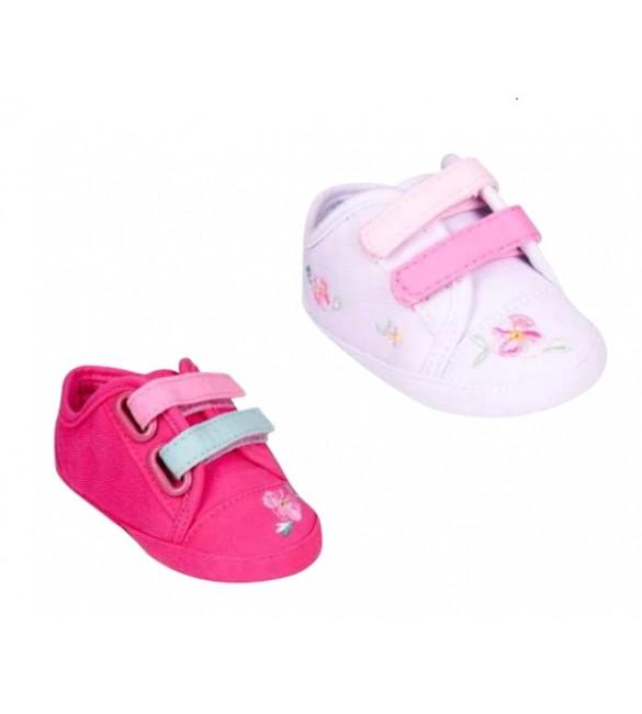 Zīdaiņu čībiņas-kedas ar dubulto velcro YOclub GIRL OB-068