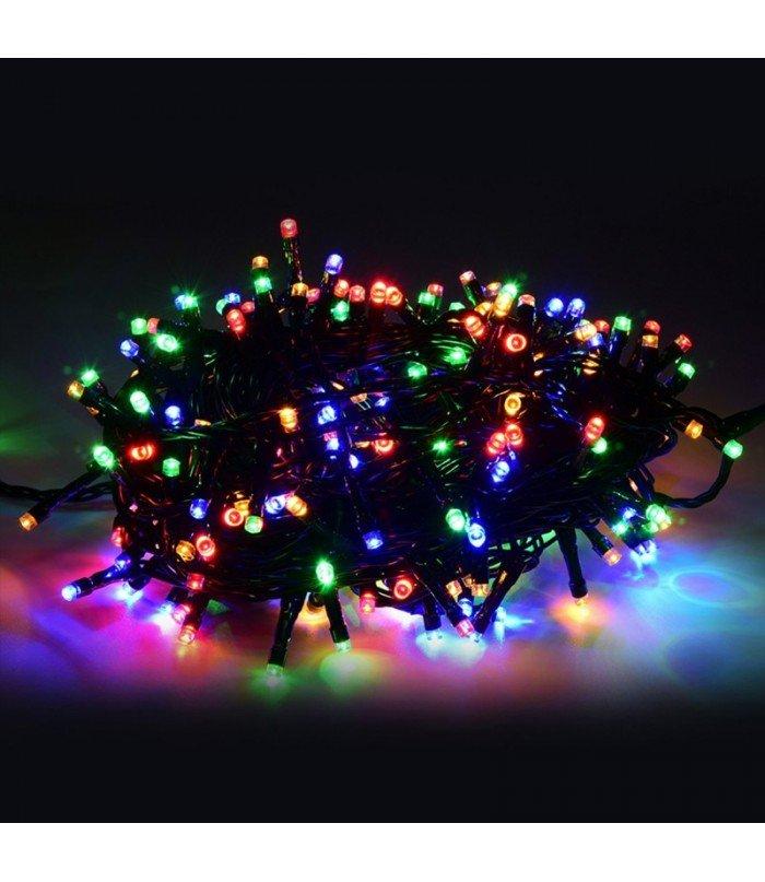 Ziemassvētku virtene Multicolor 300 LED 25,5 m