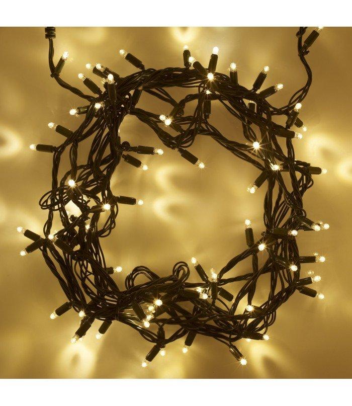 Ziemassvētku virtene Warm White 100 LED 9.7 m