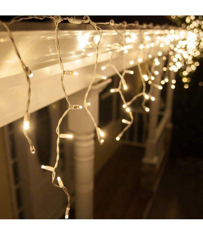 Ziemassvētku virtene White 100 LED 3,2 m