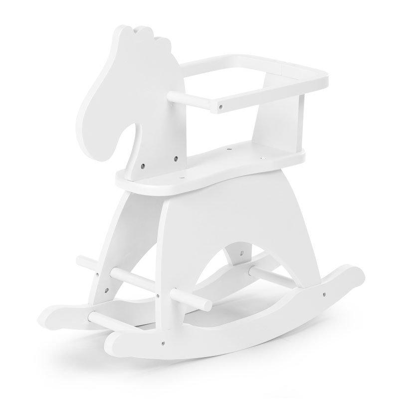 Zirdziņš-šūpulis CHILDHOME Rocking horse white + Brace