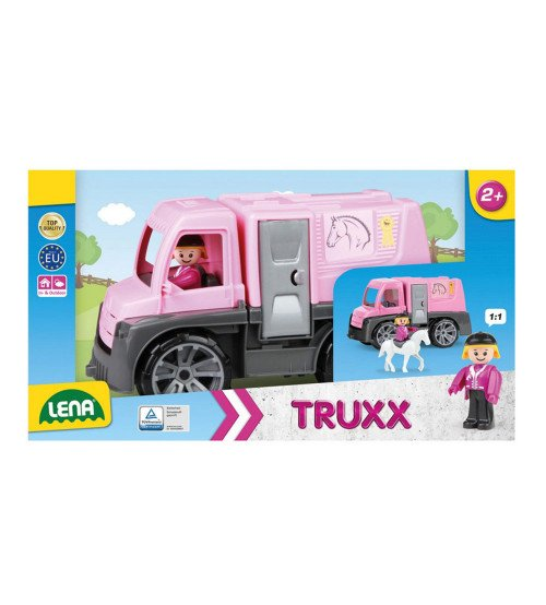 Zirgu furgons ar cilvēciņu un zirgu Truxx 29 cm Čehija L04458 kastē