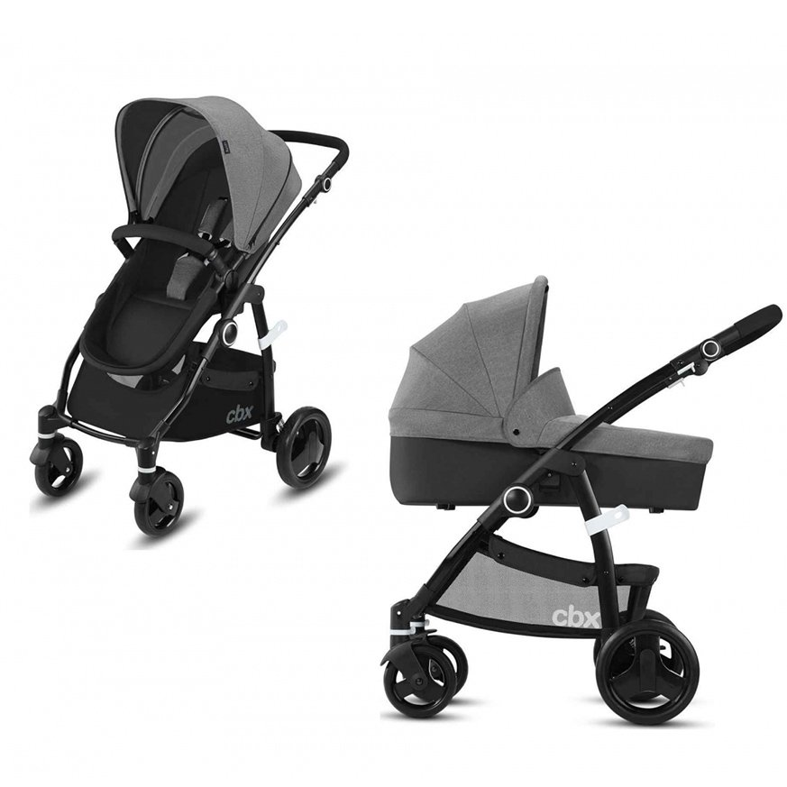 Cybex Leotie Pure Comfy Grey Bērnu rati 2in1