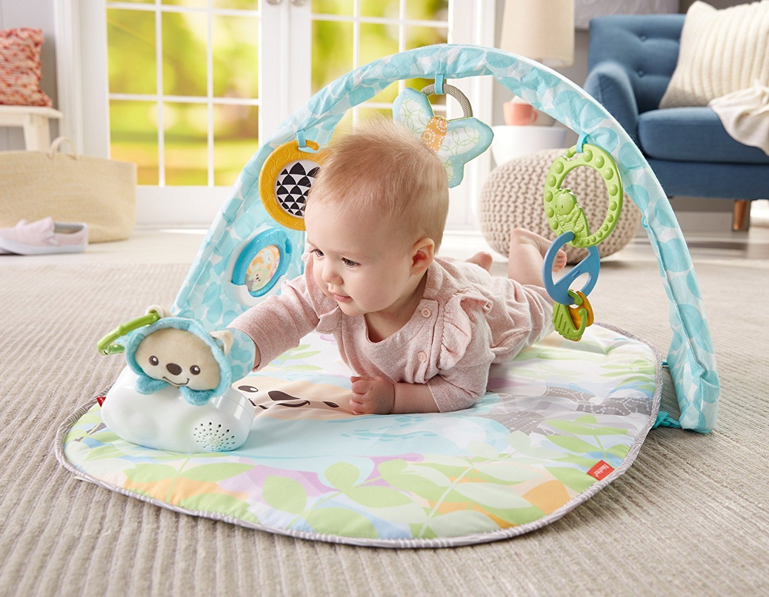 Fisher Price Butterfly Dreams Musical Playtime Gym DYW46 Aktivitātes paklājs