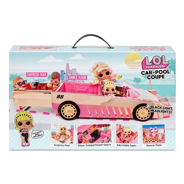 MGA LOL Surprise Car-Pool Coupe with Exclusive Doll