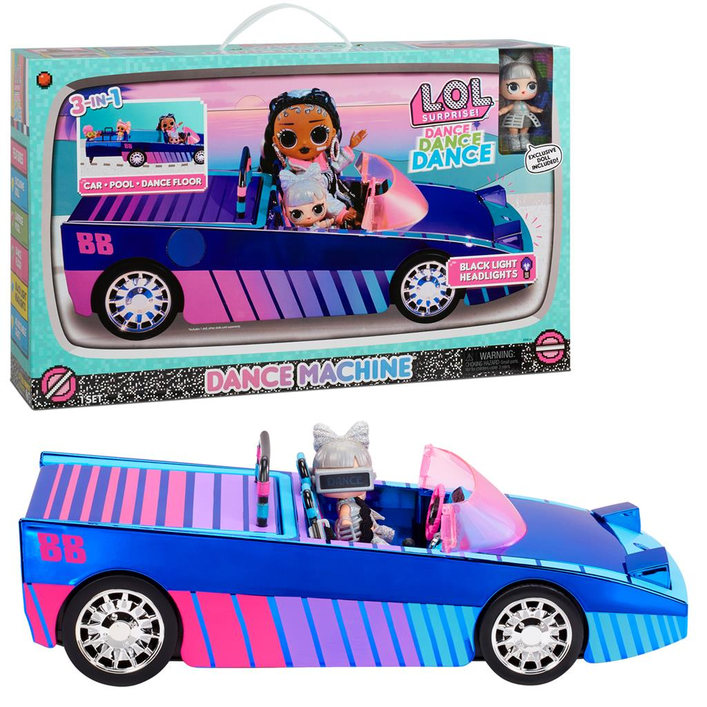 MGA LOL Surprise O.M.G. Dance Machine Car with Exclusive Doll