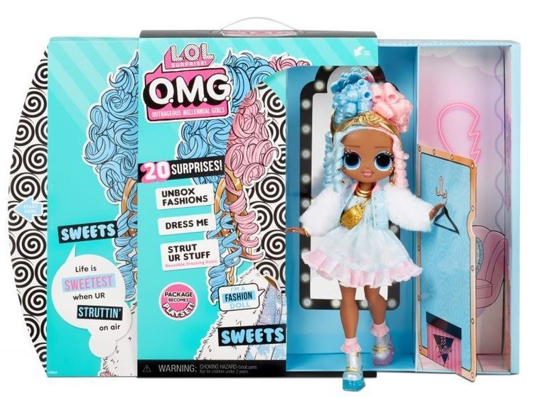 MGA LOL SURPRISE O.M.G. Sweets Fashion Doll + 20 Surprises