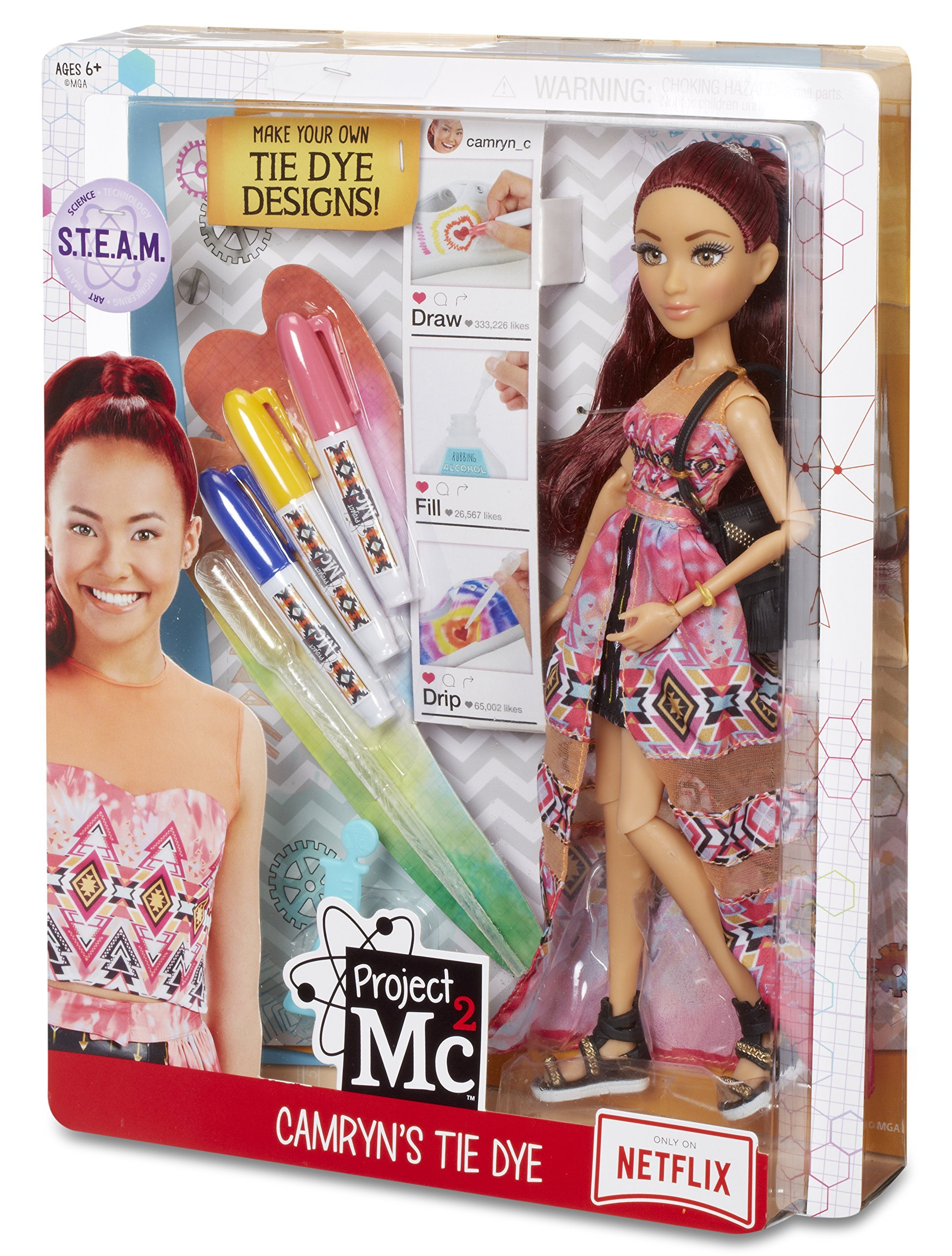 MGA Project MC2 Camryn's Tie Dye Toy lelle 545132