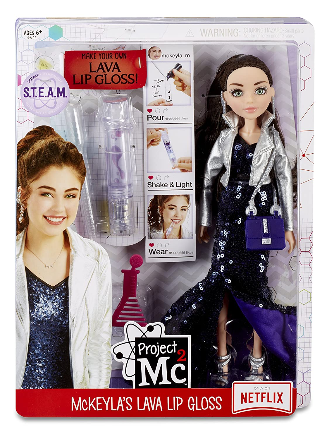 MGA Project MC2 Experiments with Doll McKeyla's Lava Lip Gloss lelle 545095