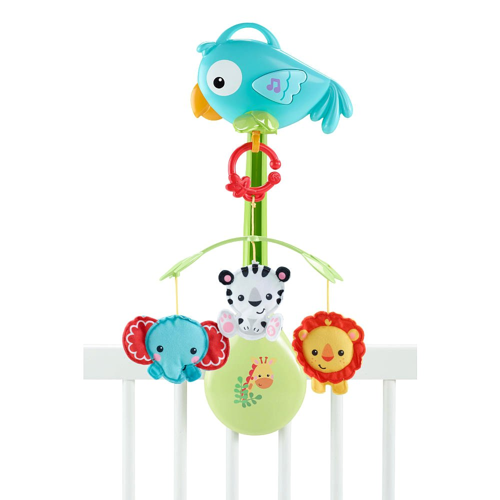 Muzikālais karuselis gultiņai Fisher Price Rainforest Friends 3-in-1 Musical Mobile CHR11
