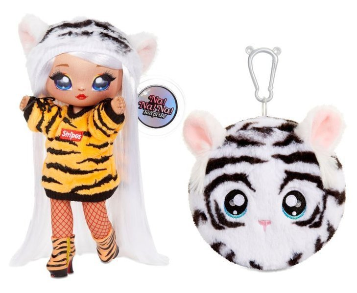 Na! Na! Na! Surprise 2-in-1 Fashion Doll & Plush Pom with Confetti Balloon Bianca Bengal