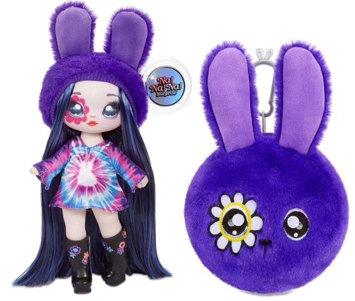 Na! Na! Na! Surprise 2-in-1 Fashion Doll & Plush Pom with Confetti Balloon Melanie Mod