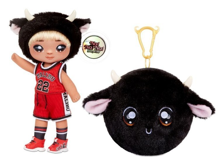 Na! Na! Na! Surprise 2-in-1 Fashion Doll & Plush Pom with Confetti Balloon Tommy Torro