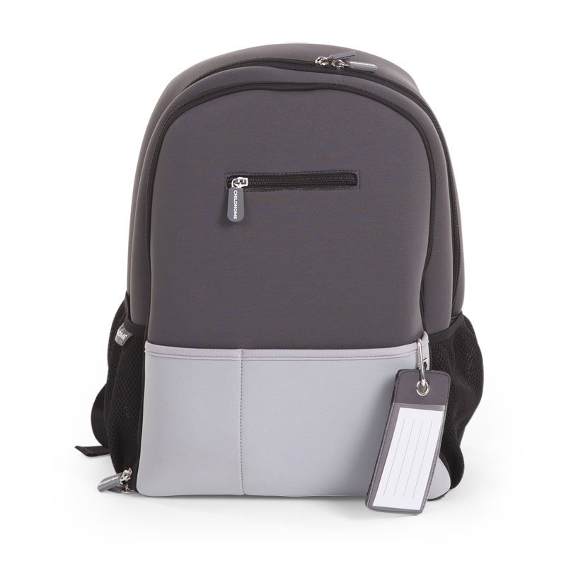 Ratiņu mugursoma CHILDHOME Neoprene Nursery Backpack dark grey
