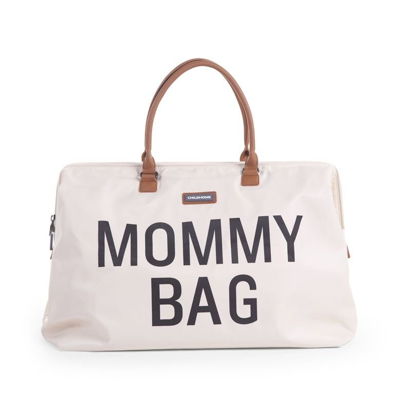 Ratiņu soma CHILDHOME Mommy Bag big white